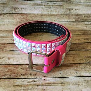 Hot Topic Pink Studded Belt